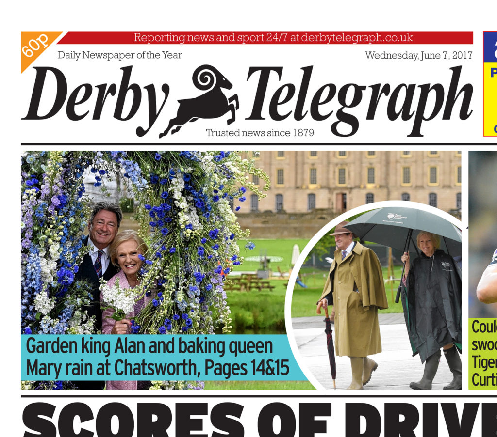 Whatever the weather it's still a front page